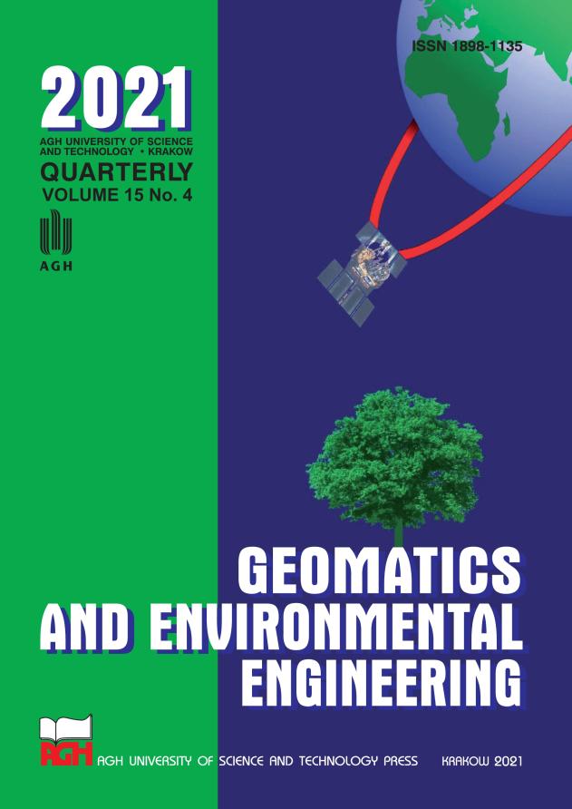 Geomatics and Environmental Engineering, vol. 15, no. 4