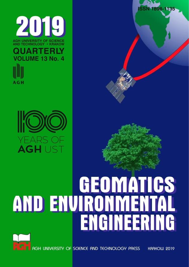 Geomatics and Environmental Engineering, vol. 13, no. 4